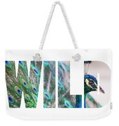 Portrait Of Beautiful Peacock With Open Tail Weekender Tote Bag