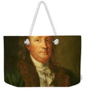Portrait Of Benjamin Franklin Weekender Tote Bag