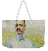 Portrait Of Brigadier Jozef Pilsudski Weekender Tote Bag