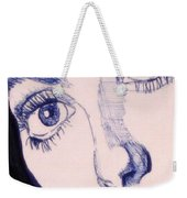 Portrait Of Catherine Close Up Details Weekender Tote Bag