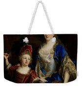 Portrait Of Catherine Coustard Weekender Tote Bag by Nicolas de Largilliere