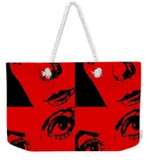 Portrait Of Catherine Pop Art Design Weekender Tote Bag