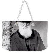 Portrait Of Charles Darwin Weekender Tote Bag by Julia Margaret Cameron