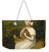 Portrait Of Countess Louise Bose As A Child Weekender Tote Bag
