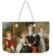 Portrait Of Elizabeth Lea And Her Children Weekender Tote Bag by John Constable