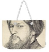Portrait Of Ford Madox Brown Weekender Tote Bag