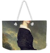 Portrait Of Francisca Caroline De Braganca Weekender Tote Bag by Franz Xaver Winterhalter
