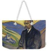 Portrait Of Friedrich Nietzsche Weekender Tote Bag