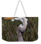 Portrait Of Great Blue Heron Weekender Tote Bag