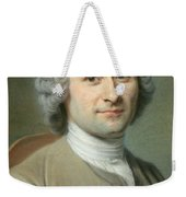 Portrait Of Jean Jacques Rousseau Weekender Tote Bag