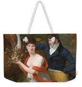 Portrait Of Jean-louis Gustave D'hautefort And His Sister Marie-therese-thais D'hautefort Weekender Tote Bag