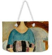 Portrait Of Jeanne Hebuterne Weekender Tote Bag by Amedeo Modigliani