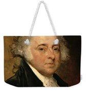 Portrait Of John Adams Weekender Tote Bag by Gilbert Stuart