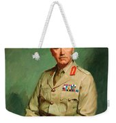 Portrait Of Lieutenant - General The Honorable Sir Edmund Herring Weekender Tote Bag