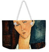 Portrait Of Lunia Czechowska Weekender Tote Bag by Amedeo Modigliani