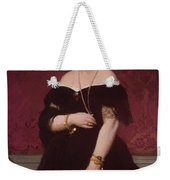 Portrait Of Madame Moitessier Standing Weekender Tote Bag