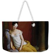 Portrait Of Madame Recamier Weekender Tote Bag