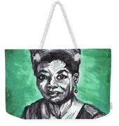 Portrait Of Maya Angelou Weekender Tote Bag