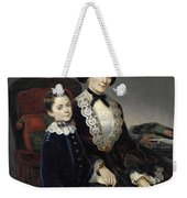 Portrait Of Mother And Son Weekender Tote Bag