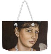 Portrait Of My Mother Early Sixties Weekender Tote Bag