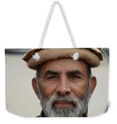 Portrait Of Pathan Tuk Tuk Rickshaw Driver Peshawar Pakistan Weekender Tote Bag