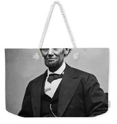 Portrait Of President Abraham Lincoln Weekender Tote Bag by International  Images