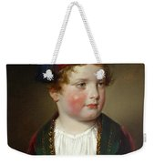 Portrait Of Prince Victor Odescalchi  In Greek Costume At The Age Of Five Weekender Tote Bag