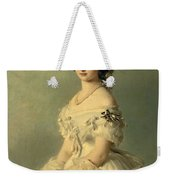 Portrait Of Princess Of Baden Weekender Tote Bag by Franz Xaver Winterhalter