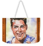 Portrait Of Ricky Martin Weekender Tote Bag