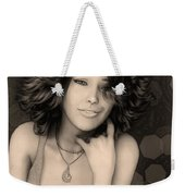 Portrait Of Rose Weekender Tote Bag
