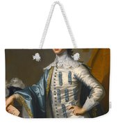 Portrait Of Sir James Lowther 1st Earl Of Lonsdale Three Quarter Length Holding A Mask In His Right  Weekender Tote Bag