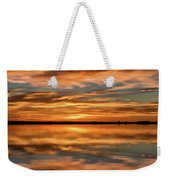 Portrait Of Sunrise Reflections On The Great Plains Weekender Tote Bag