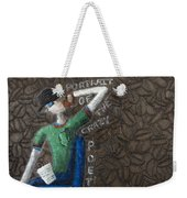 Portrait Of The Crazy Poet Weekender Tote Bag