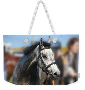 Portrait Of The Grey Race Horse Weekender Tote Bag