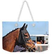 Portrait Of The Horse In The Hood Weekender Tote Bag