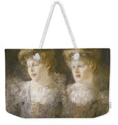 Portrait Of Two Ladies Weekender Tote Bag