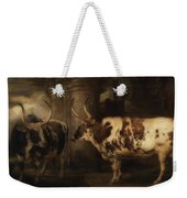 Portrait Of Two Oxen - The Property Of The Earl Of Powis Weekender Tote Bag