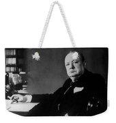 Portrait Of Winston Churchill  Weekender Tote Bag