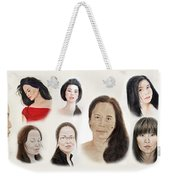 Portraits Of Lovely Asian Women II Weekender Tote Bag