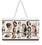 Portraits Of Lovely Asian Women  Weekender Tote Bag
