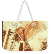 Postcards And Letters From The City Of Love Weekender Tote Bag