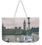Postcards From Westminster Weekender Tote Bag