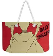 Poster Advertising A Gaiety Girl At The Dalys Theatre In Great Britain Weekender Tote Bag