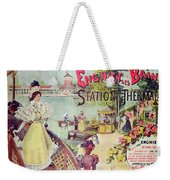 Poster Advertising Spa Resort  Weekender Tote Bag