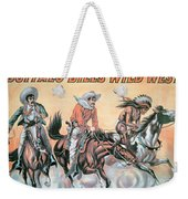 Poster For Buffalo Bill's Wild West Show Weekender Tote Bag