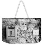 Postes In Black And White Weekender Tote Bag