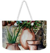 Pots And Bougainvillea Weekender Tote Bag