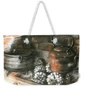 Pots Of A Fireplace Weekender Tote Bag