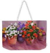 Pots Of Flowers Weekender Tote Bag