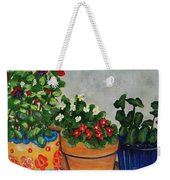 Pots Showing Off Weekender Tote Bag